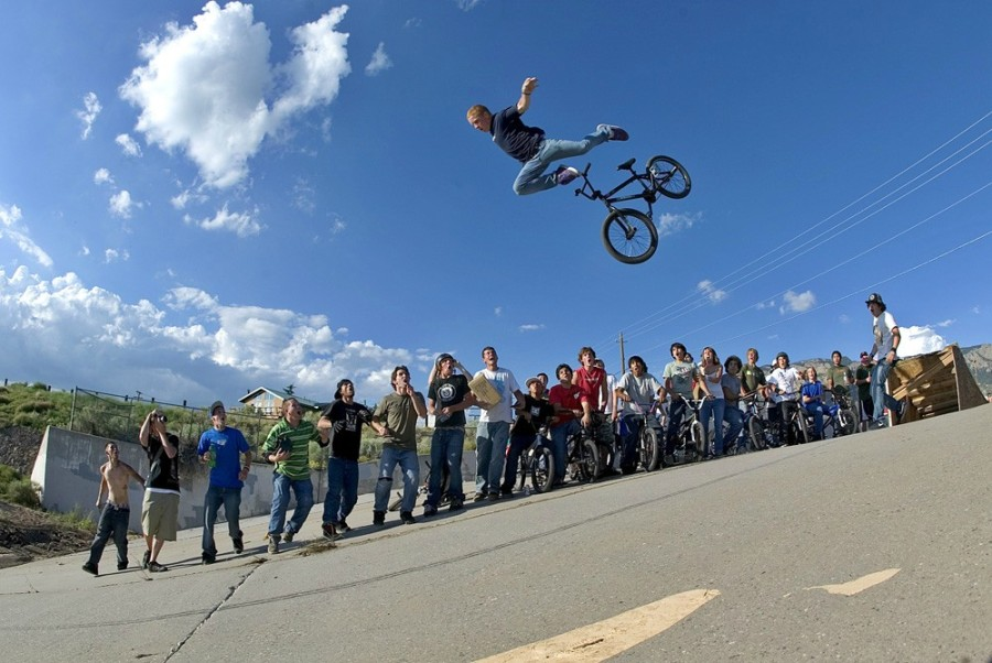 Bicycle Stunt Going Wrong