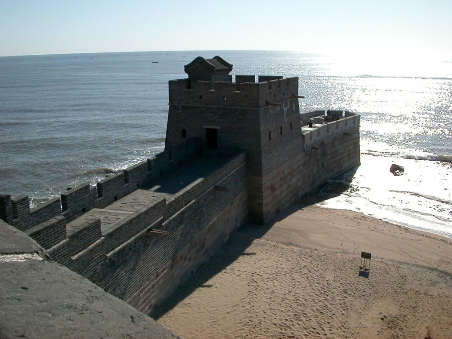 Great Wall of China Meets The Sea