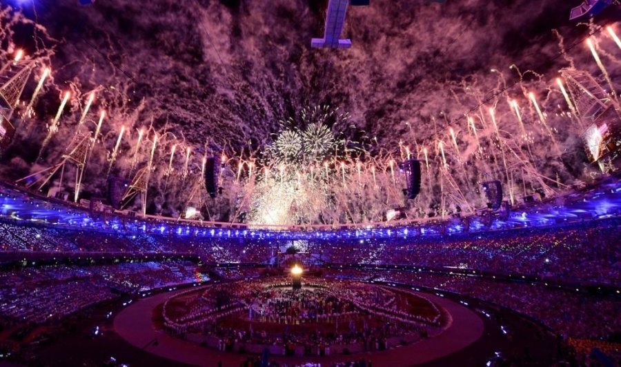 London 2012 Olympics Opening Ceremony Fireworks