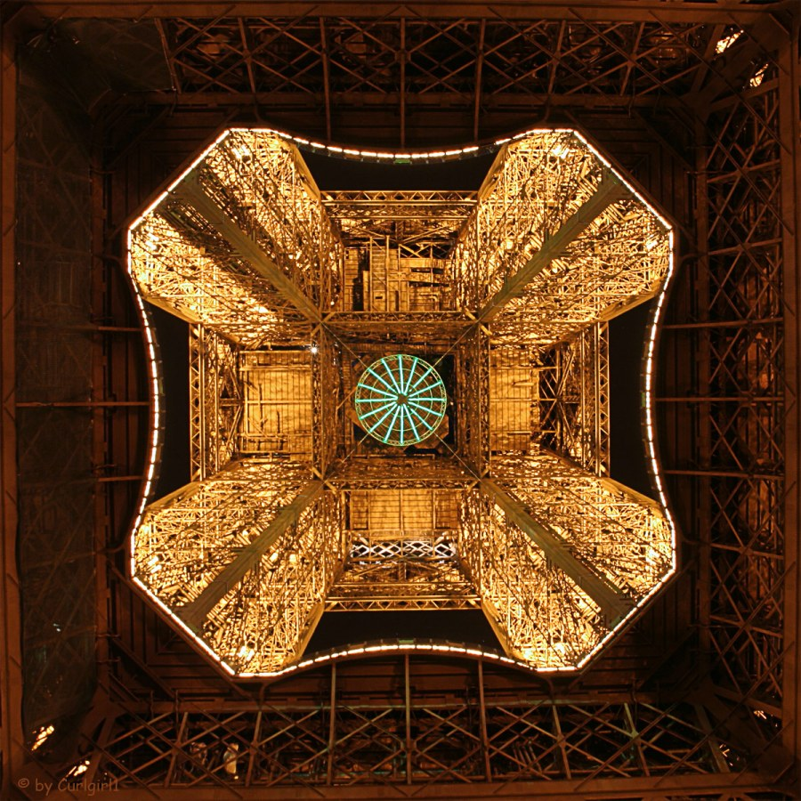 Eiffel Tower seen from underneath
