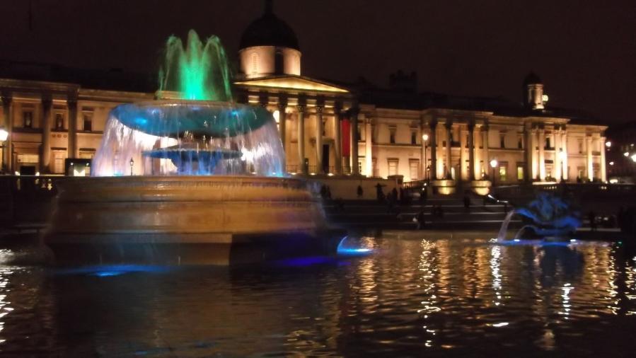 Trafalgar Square and British Museum, London