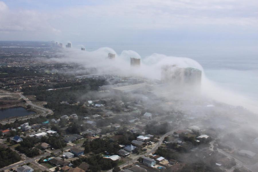 Fog storm in Panama