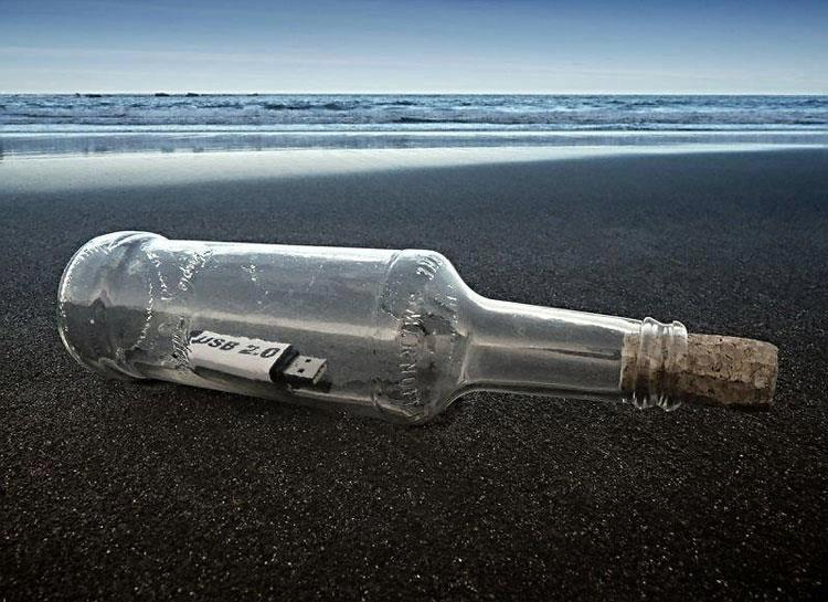 USB in a Bottle