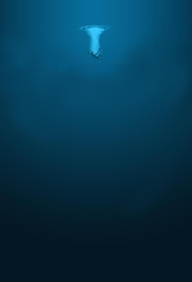 Falling into an Ocean