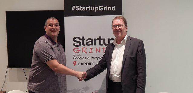 Startup Grind Cardiff Elio Assuncao and Mark John