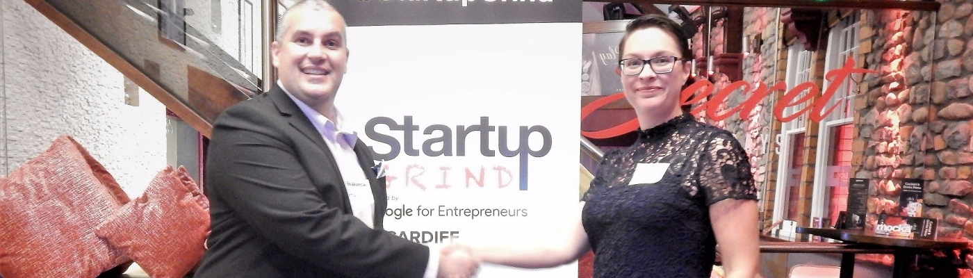Startup Grind Cardiff Elio Assuncao and Catrin Archer