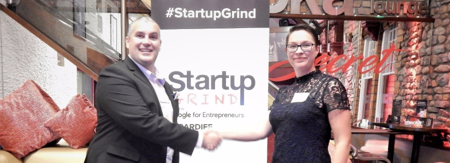 Startup Grind Cardiff Elio Assuncao and Catrin Archer