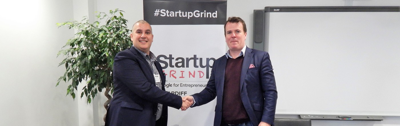 Elio Assuncao of Startup Grind hosting Ian Lucey