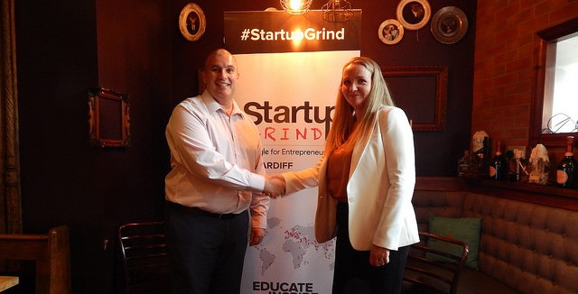 Startup Grind Cardiff Elio Assuncao and Leanne Eustace May 2018